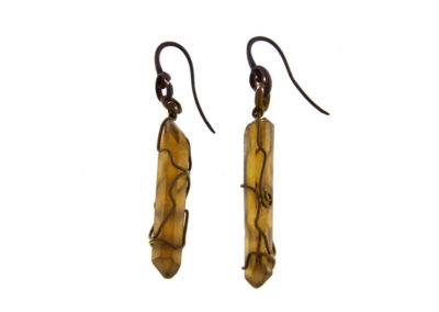 mizar - citrine quartz earrings pic1