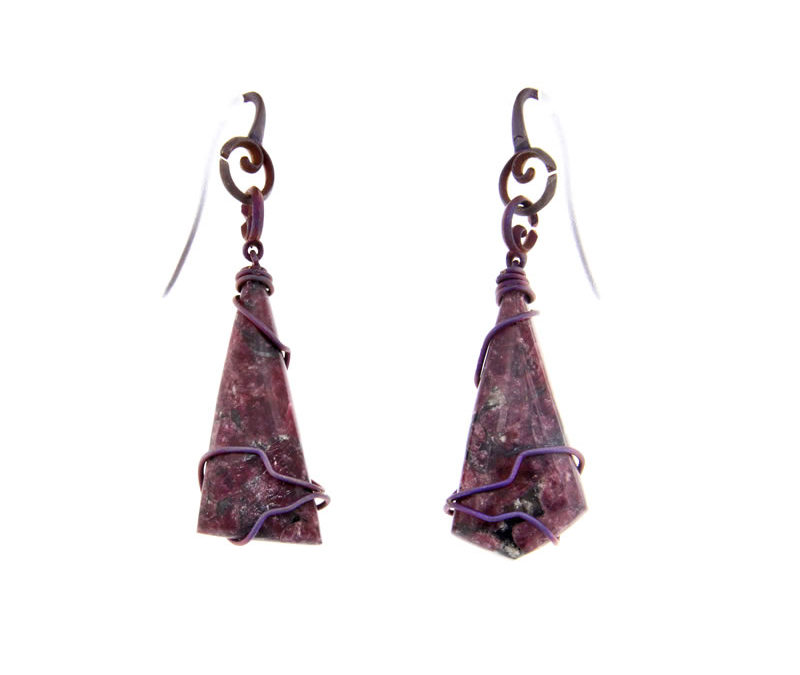 eudialyte earrings