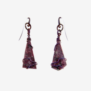 mizar - eudialyte earrings pic2