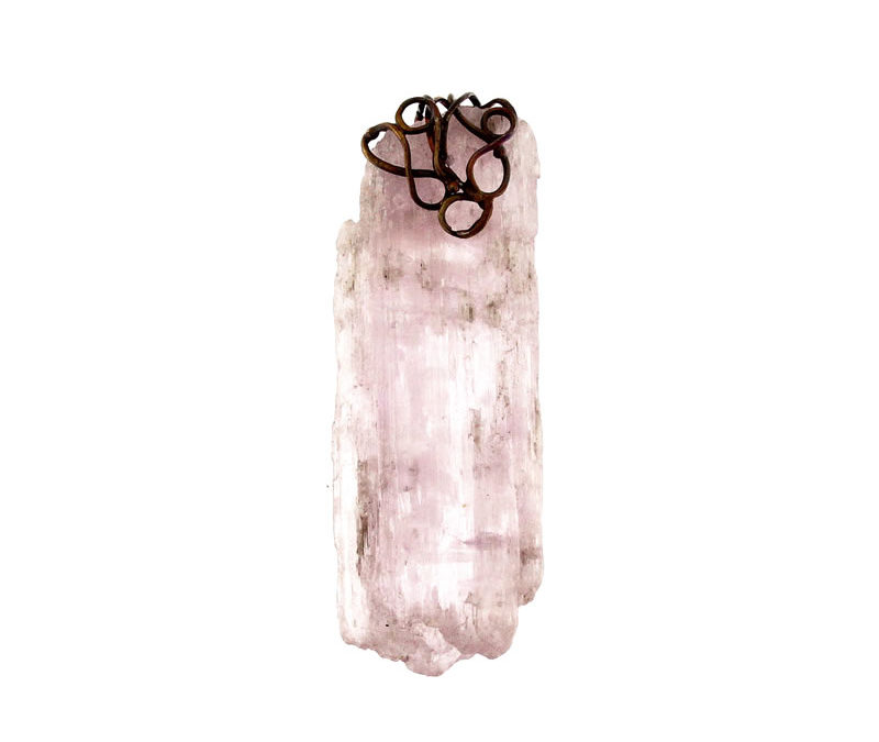 kunzite pendant natural rod