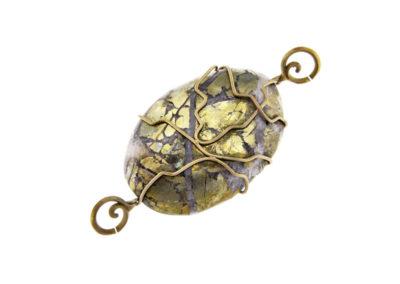 oval chalcopyrite pendant