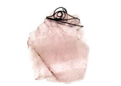pink quartz pendant