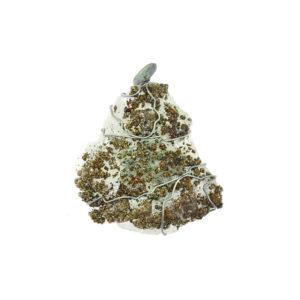mizar - pyrite on green quartz pendant pic1